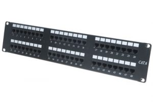 picture of cat6 48 port patch panel